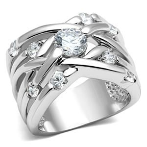 Weaving Design Cubic Zirconia Right Hand Ring | Hope Chest Jewelry, $18.49