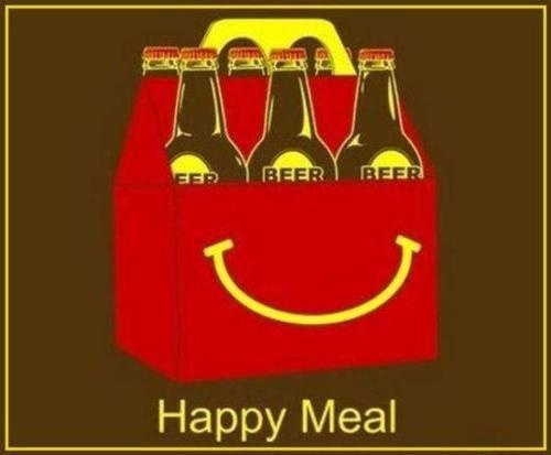 """""""I'm lovin' it"""": Things Beer, Meals, Adult Beverages, Funny Stuff, Funnystuff"""