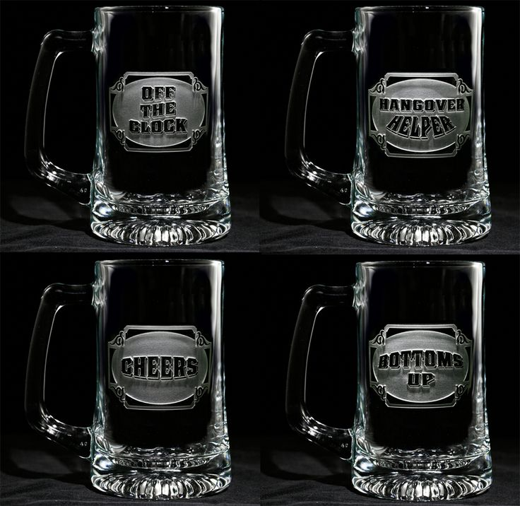 Pick Up Lines Beer Mugs  Humorous Engraved Barware At Crystal Imagery.
