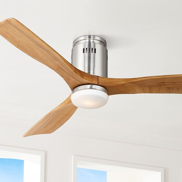 "52"" Possini Euro Design Admiralty Brushed Nickel Ceiling Fan"