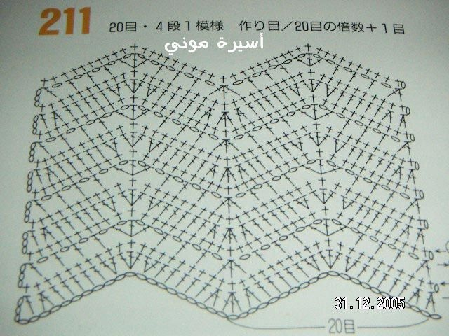 Crochet Chevron Ripple - Chart I think this is what I do next. #crochetstitch #chevronstitch