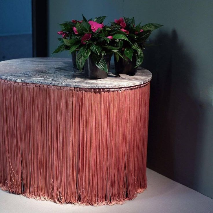Tripolino M Low Table in Marble Fringes by Cristina Celestino X Editions, Milano 5