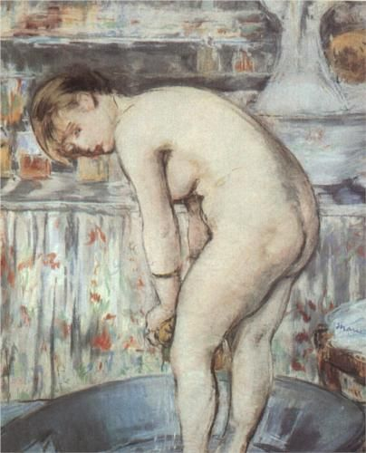 Woman in a tub - Edouard Manet 1878