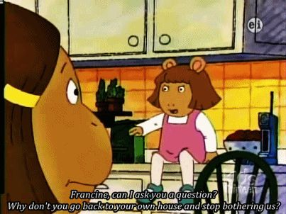 D.W.! I don't think any of the kids in my class watch Arthur, but i do! Lol
