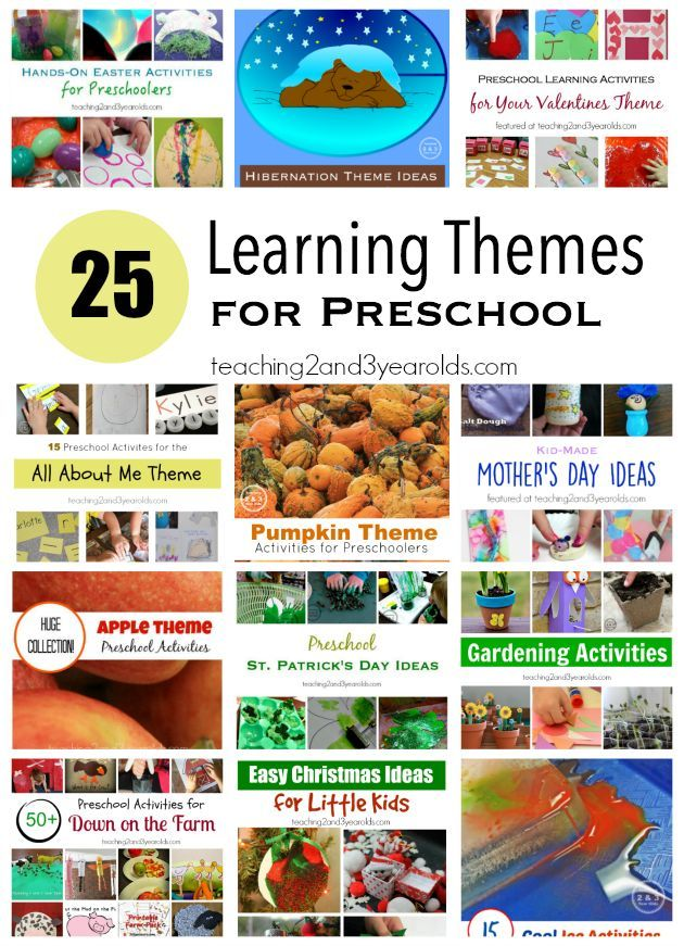Teachers, are you looking for theme ideas? Here are 25 or our favorite learning themes for preschool that we love in our early childhood classroom.
