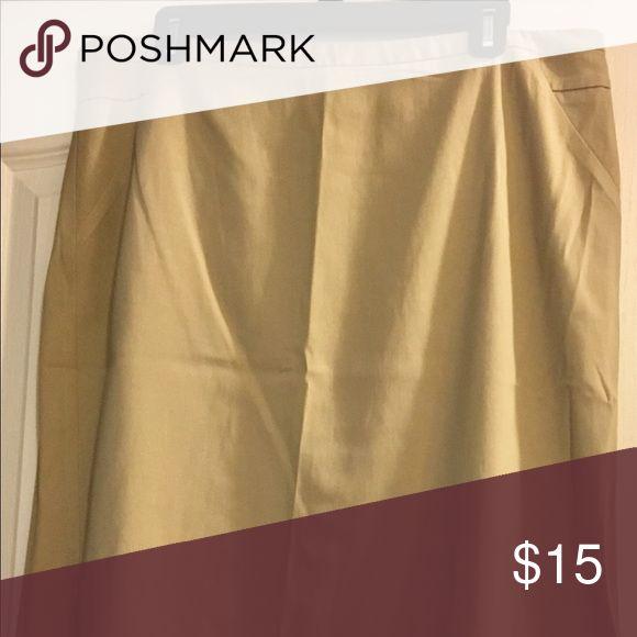 Selling this The Limited khaki pencil skirt Exact Stretch on Poshmark! My username is: melissa62377. #shopmycloset #poshmark #fashion #shopping #style #forsale #The Limited #Dresses & Skirts