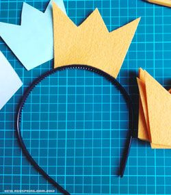 #DIYCrowns: For an LOL-worhty (and probably school-appropriate) look you can rock all day to point our your b-day girl status, give this one a try. Created and photographed by Lady Spring @ HeyLadySpring