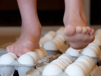 Walking on Eggs | Experiments | Steve Spangler Science.  Try this at work some day - you'll get gasps!  From http://www.stevespanglerscience.com/lab/experiments/walking-on-eggshells