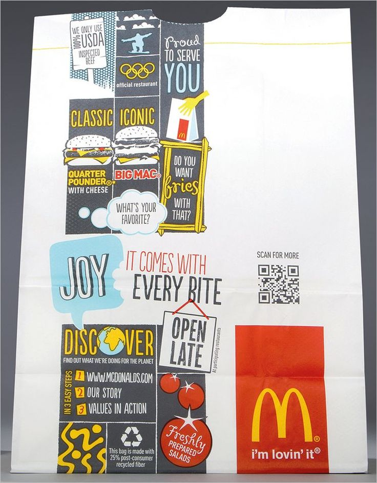 Mc Donalds uses QRcode to give nutrional info about there products to the consumer.