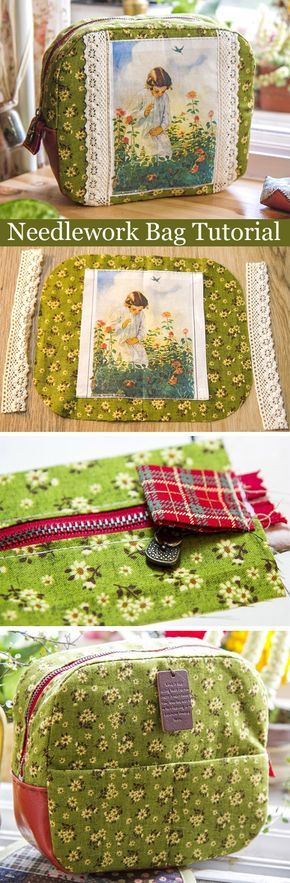 A Bag for Needlework in Process. DIY tutorial in pictures.  http://www.handmadiya.com/2015/09/needlework-bag-tutorial.html