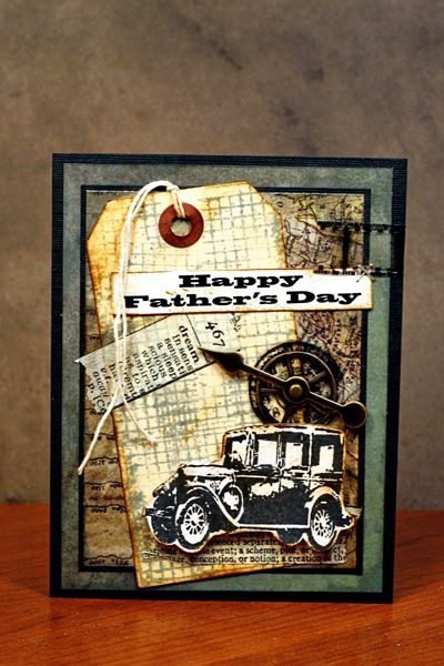 Tim Holtz Christmas Cards | ... Tim Holtz's stamps, inks, Idea-ology, and papers to make this card