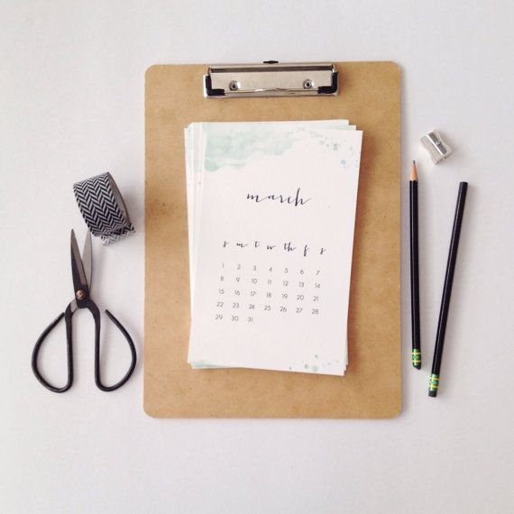 2015 Watercolor Calendar by stationeryboutique on Etsy