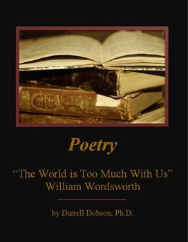Package includes the poem, study questions on the content and poetic devices, and ANSWERS.Check out the complete preview.Package is in Word so you can modify.See also my numerous poetry packages -- including complete units for each of grade 9, 10, 11, 12.