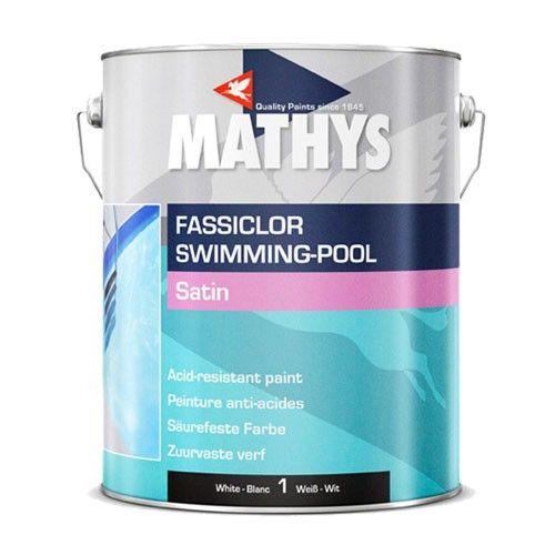 Zwembadverf Mathys Fassiclor Swinning pool. Zwembadverf voor decoratieve bekleding van zwembaden en vijvers in beton