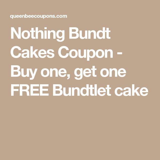 Nothing Bundt Cakes Coupon - Buy one, get one FREE Bundtlet cake