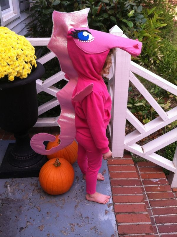 Ummm...cutest pink seahorse costume ever!!!