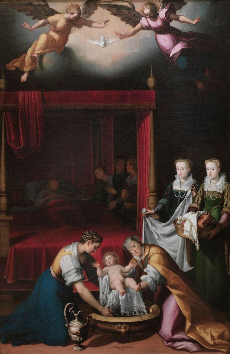 El Nacimiento de la Virgen. 1603. Juan Pantoja de la Cruz Óleo sobre lienzo. Medidas: 260cm x 172cm. Museo del Prado. Madrid. Espa...