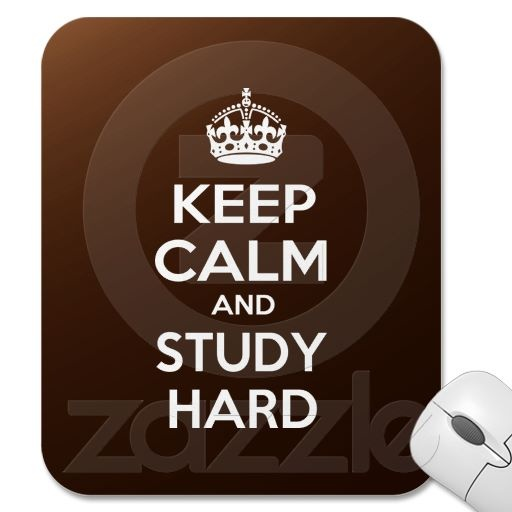 Keep Calm and Study Hard Mousepads
