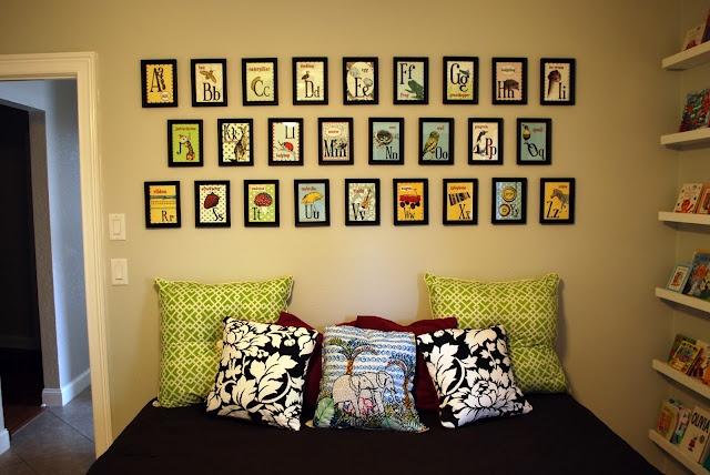 Flashcards in frames on wall.: Alphabet Cards, Wall Decor, Playrooms Wall, Alphabet Wall, Plays Rooms, Nurseries Rooms, Alphabet Book, Kara Korner, Kids Rooms