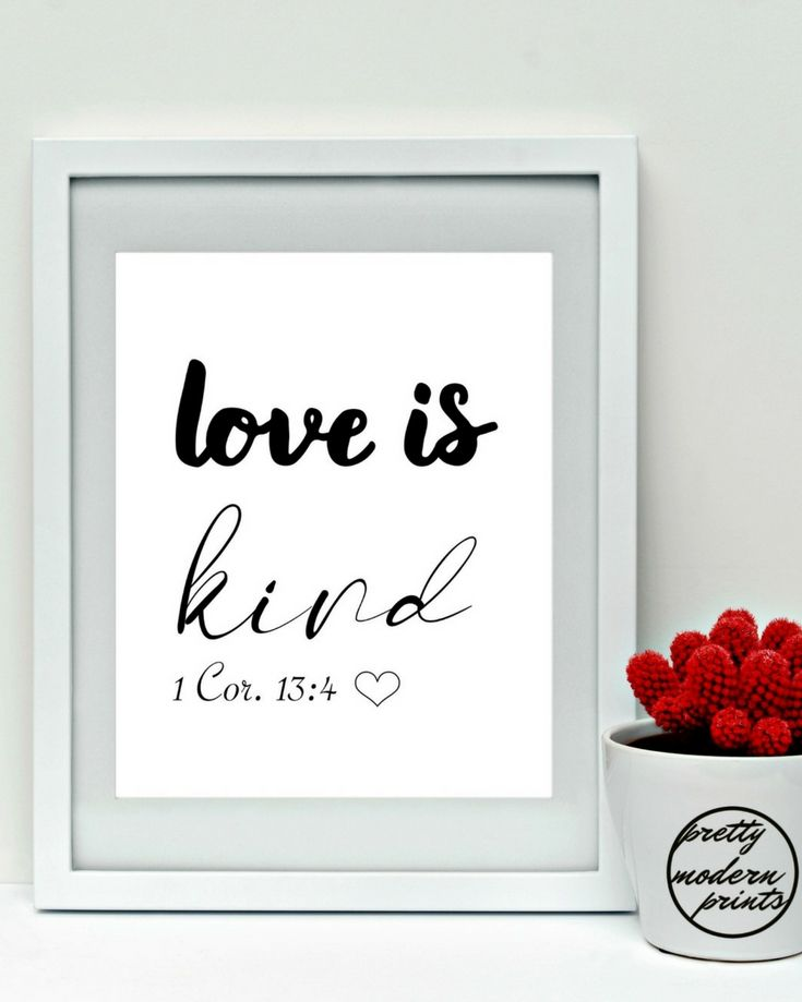 LOVE IS KIND, 1 Corinthians 13, Bible Scriptures, Wall Art