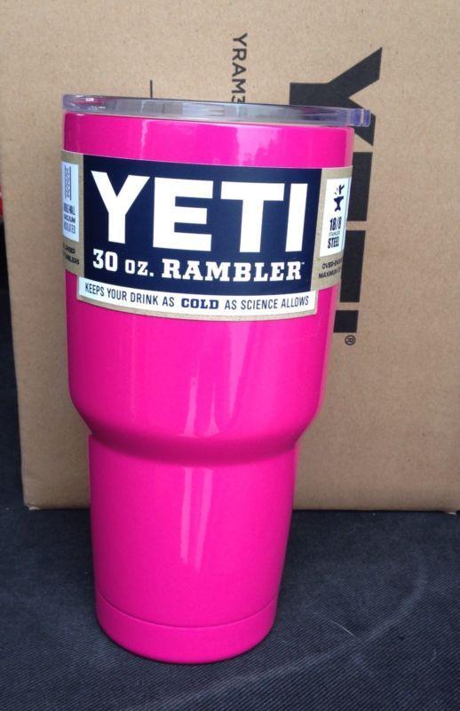 YETI Rambler Tumbler BARBIE PINK 30oz Stainless Steel Mug Free Shipping