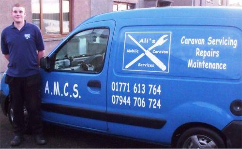 Ali's Mobile Caravan Services A.M.C.S, Maud, Peterhead, Aberdeenshire, Scotland  Ali's Mobile Caravan Services (A.M.C.S.) who is GasSafe Registered, offers caravan & motorhome servicing, repairs, maintenance, installations and reports.