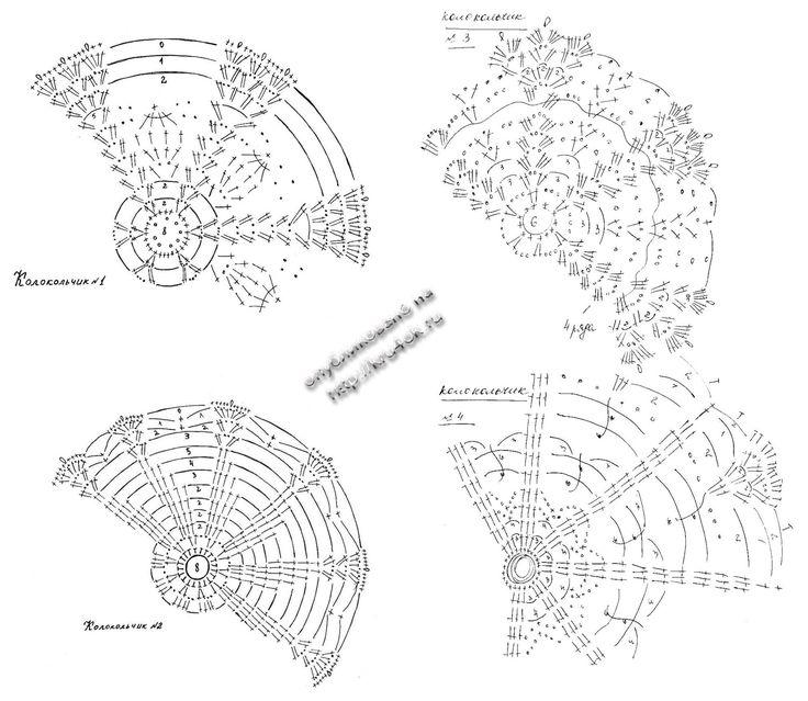 Вязаные колокольчики схемы - Cerca con Google