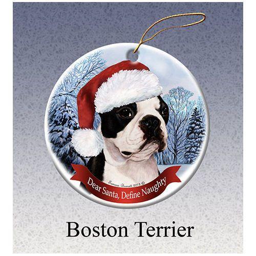 Boston Terrier Howliday Dog Christmas Ornament