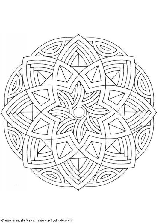 Coloring page mandala-1602l