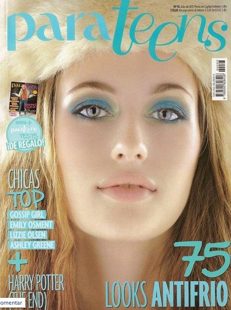 CASACA DELACUCA en Tapa Revista Para Teens