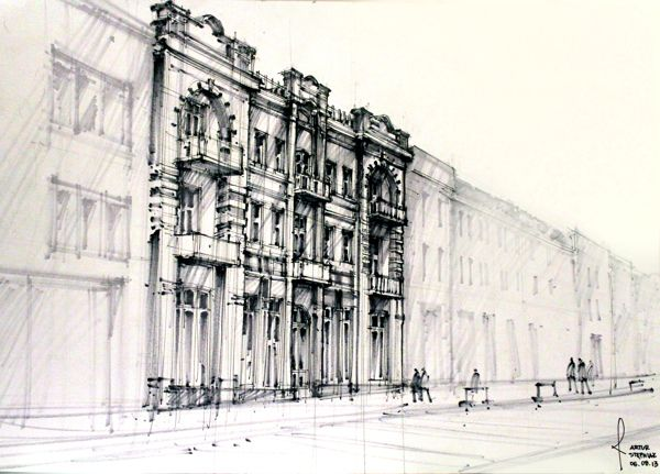 Architecture Drawings by Artur Stepniak. Artur has demonstrated that I do not always need to erase my pencil lines. Awesome.