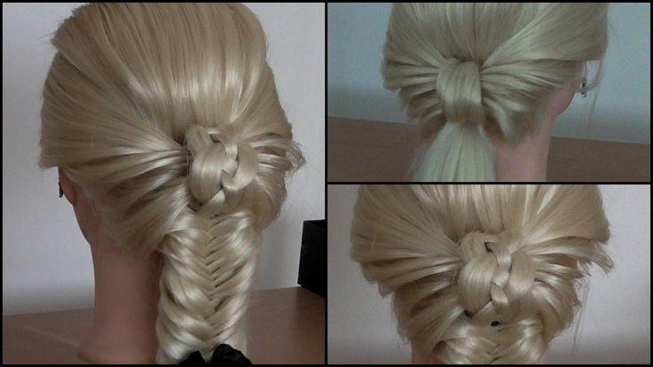 Simple Updo With Fishtail Braid Hairstyle Hair Tutorial Hairglamour Hair Do S No Braids