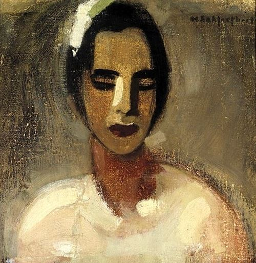 bofransson:1934 Helene Schjerfbeck (1862-1946)  Girl from California