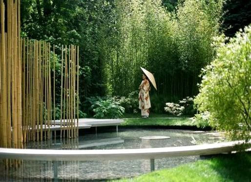 japanese influenced modern landscape design kevin odonnell landscape design love the bamboo wall and those sticks