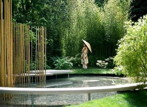 Japanese Bamboo Garden Design japanese water garden design japanese garden woodwork Modern Japanese Garden Design