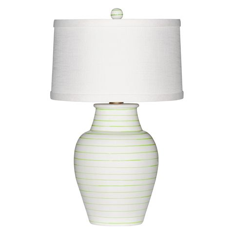 lamp - with green pinstripe