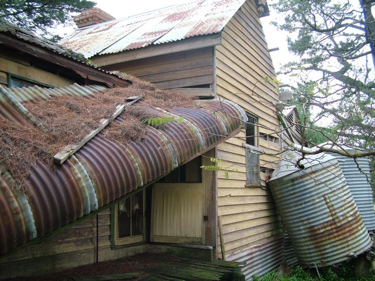 Old deserted farm house