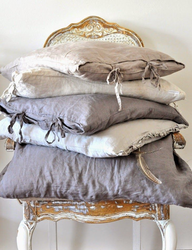 VINTAGE touch......will do all linen bedding. I just love it!