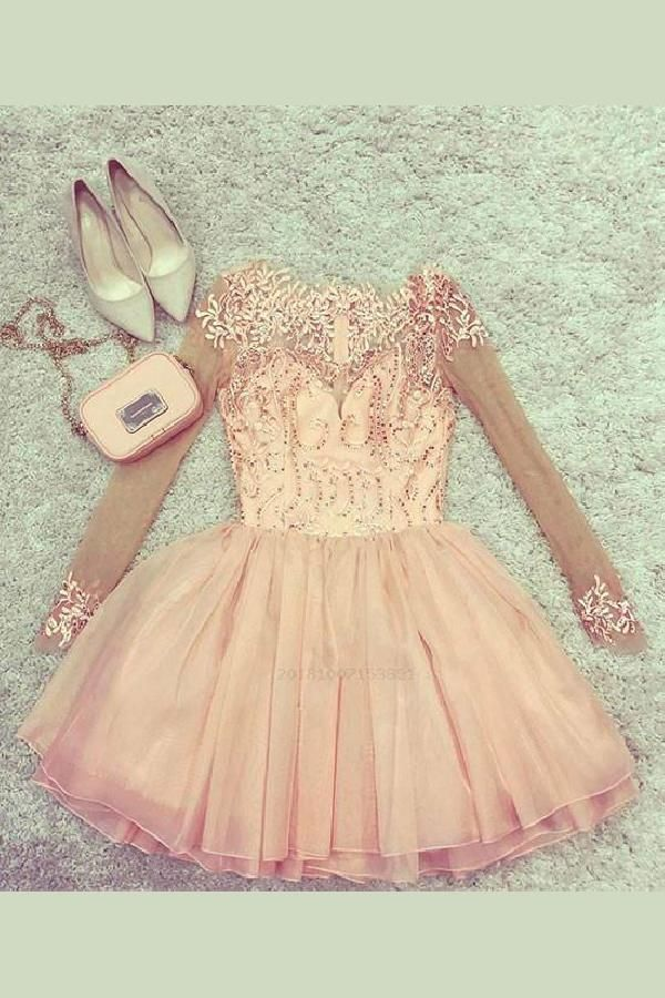 ae8a4cb25d2 Outlet Vogue Pink Prom Dress