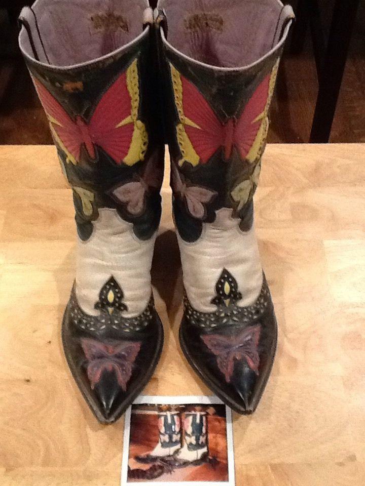 Nudies' Rodeo Tailors Handmade Butterfly Men's Western Boots Nudie Cohn 8/8.5 #NudiesRodeoTailors #CowboyWestern