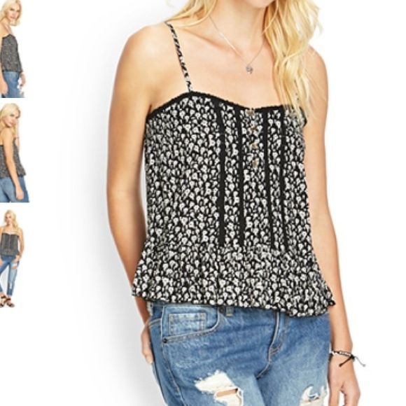New Forever 21 Crocheted Floral Cami Top - Small Brand new Forever 21 Tops Camisoles