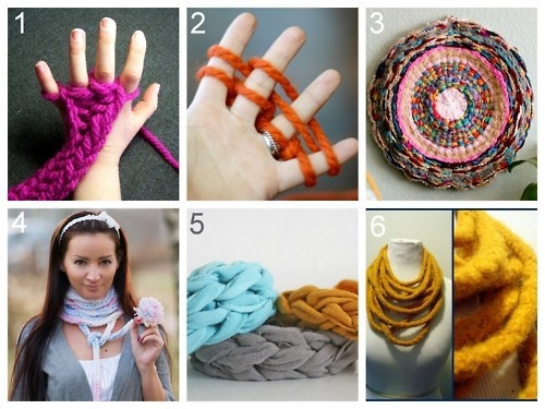 finger crochet crafts: Knits Tutorials, Fingerknit, Fingers Knits Projects, Hula Hoop Rugs, Fashion Blog, Finger Knitting, Crochet Crafts, Fingers Crochet, Diy Fingers