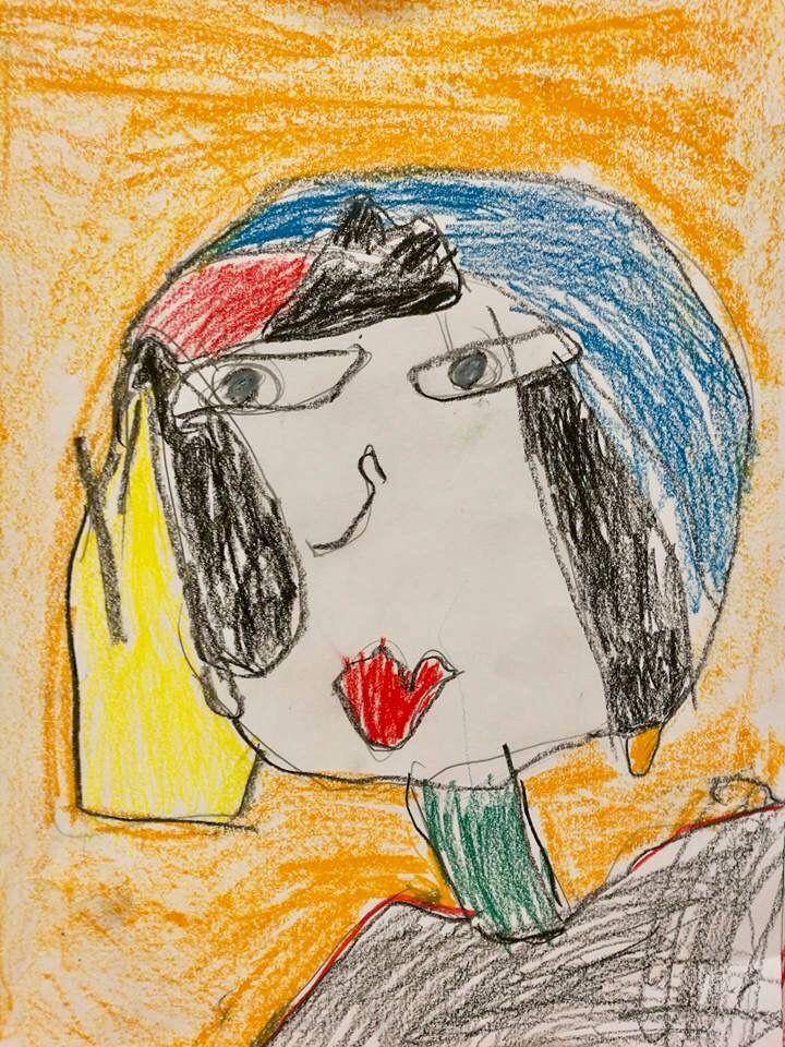 Kubistinen omakuva Picasson tyyliin.