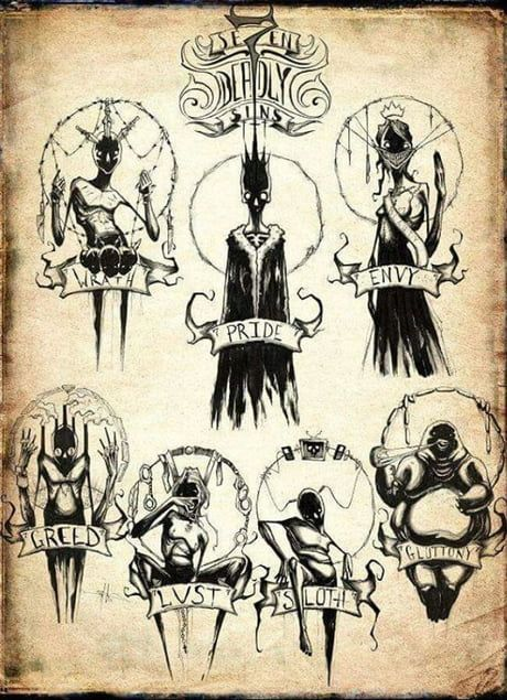 The seven deadly sins isn t it awesome? (I didn't draw this)