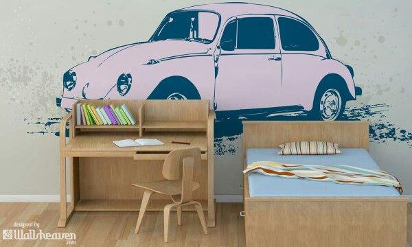 Sweet, pink, Beetle! #beetle #wallsheaven #room