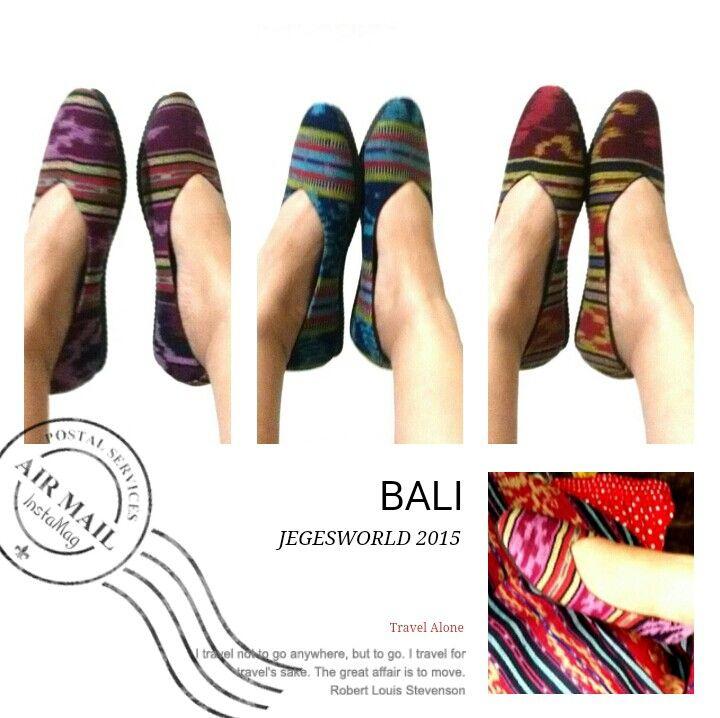 JEGESWORLD SHOES ethnics #etnik #ikat #tenun #batik #shoes #bali #