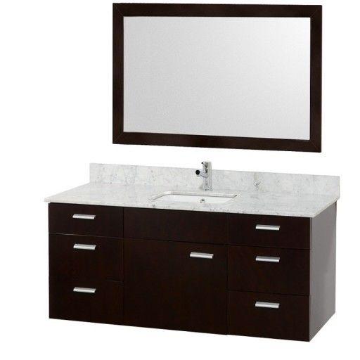 """Wyndham Collection Encore 52"""" Single Bathroom Vanity Set - Espresso WC-CG4000-52-ESP"""