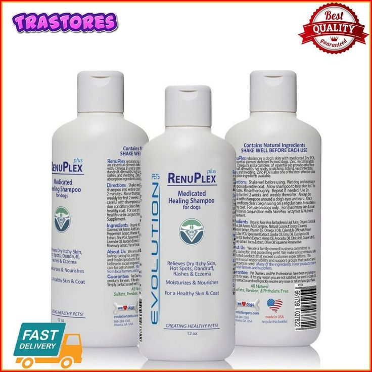 Medicated Dog Shampoo RenuPlex PLUS - SAFE, All Natural NEW #EvolutionPets