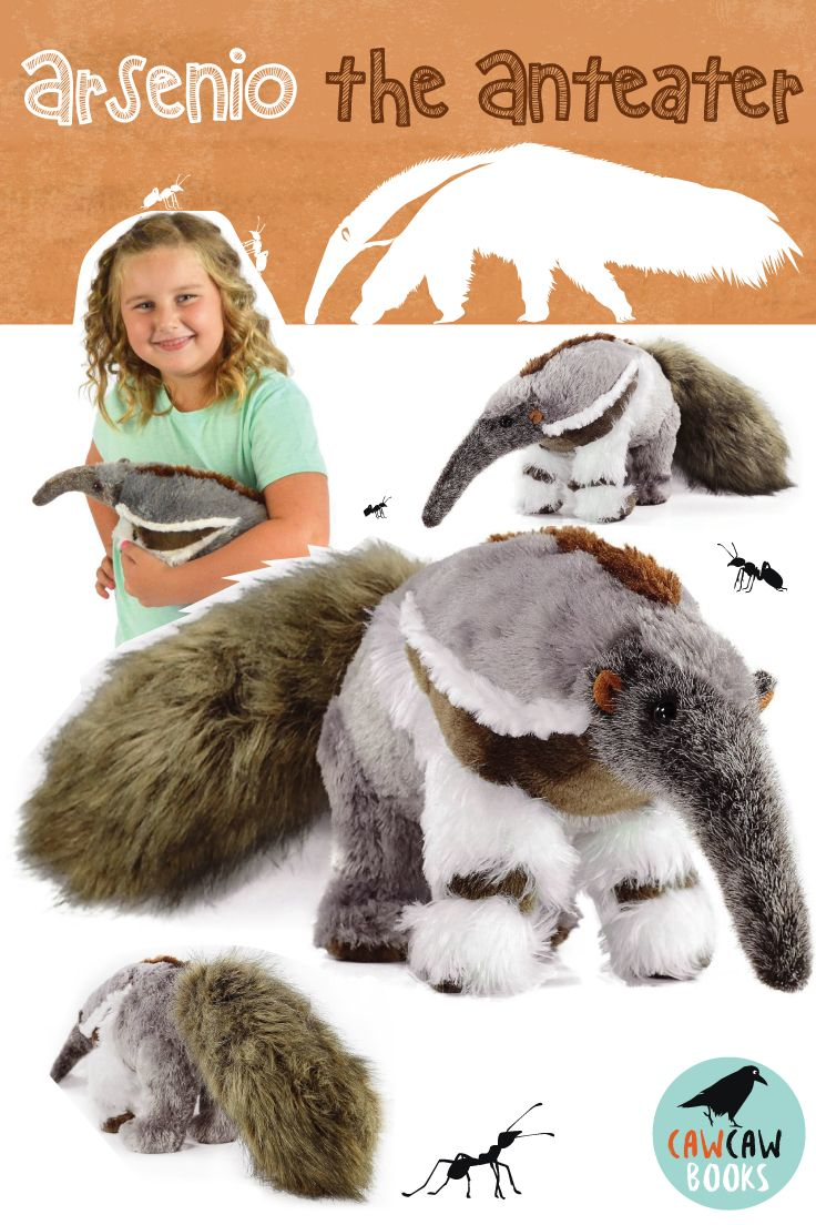 Arsenio The Anteater 20 Inch Large Stuffed Animal Plush Ant Eating Aardvark By Tiger Tale Toys Large Stuffed Animals Plush Stuffed Animals Anteater [ 1104 x 736 Pixel ]