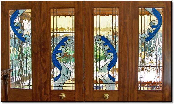 Stained designer glass glass design pinterest - Decorative interior doors with glass ...